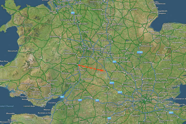 route:England